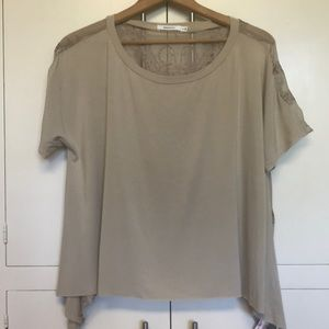 Bailey 44 blouse with silk detail back. NWT.